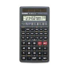 Casio FX260 Solar Scientific Calculator - 144 Functions - 1 Line(s) - 10 Digits - Solar Powered - Black - 1 Each