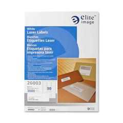 "Mailing Laser Label - Permanent Adhesive - 1"" Width x 2.62"" Length - Laser - White - 3000 / Pack"