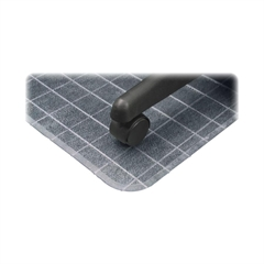 "Deflect-o DuraMat Checkered Chair Mat - Office, Carpeted Floor - 60"" Length x 46"" Width - Clear"