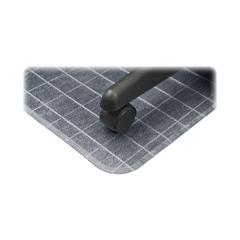 "Deflect-o DuraMat Checkered Chairmats - Office, Carpeted Floor - 60"" Length x 46"" Width - Clear"