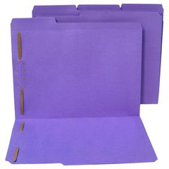 "WaterShed & CutLess Colored File Folder - Letter - 8 1/2"" x 11"" Sheet Size - 2 Fastener(s) - 2"" Fastener Capacity for Folder - 1/3 Tab Cut - Assorted Position Tab Location - 11 pt. Folder Thi"