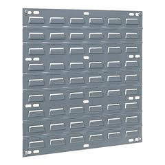 "Akro-Mils Wall Mountable Louvered Panel - 18"" Width x 0.30"" Depth x 19"" Height - Steel - Gray"
