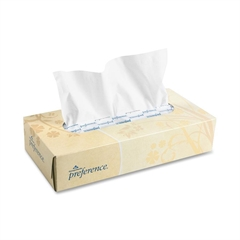 "Georgia-Pacific Preference Facial Tissue - 2 Ply - 8.30"" x 8"" - White - Soft, Absorbent - For Healthcare - 100 Sheets Per Box - 100 / Box"