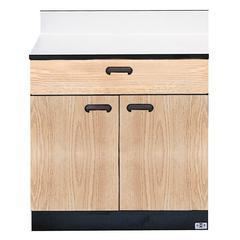 "Hausmann 8728-346 Treatment Cabinet - 16"" x 30"" x 30"" - 1 x Shelf(ves) - 1 x Drawer(s) - Oak"