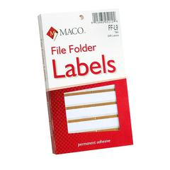 "Color Coded File Folder Labels - 0.56"" Width x 3.43"" Length - Rectangle - Tan - 248 / Box"