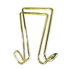 Artistic Double Hook Garment Hanger - 2 Hooks - for Garment - Brass - 1 Each