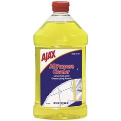 AJAX All Purpose Cleaner - Liquid Solution - 0.25 gal (32 fl oz) - Lemon Scent - 1 Each