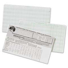 "Ekonomik Check Register Form - 8.75"" x 14.75"" Sheet Size - White Sheet(s) - Green Print Color - Recycled - 1 Each"