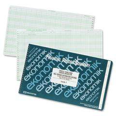 """Wirebound Check Registers Accounting System - 40 Sheet(s) - Wire Bound - 8.75"""" x 14.75"""" Sheet Size - White Sheet(s) - Recycled - 1 Each"""
