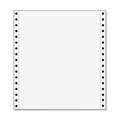"TOPS Continuous Paper - Letter - 8.50"" x 11"" - 20 lb Basis Weight - 2700 / Carton - White"