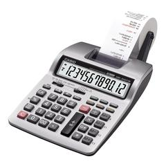 "Casio Desktop Printing Calculator - Dual Color Print - 2 lps - Two-color Printing, Large Footprint, Independent Memory - 12 Digits - Battery/Power Adapter Powered - 4 - AA - 2.6"" x 6.3"" x 10.7"" - Ligh"