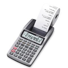 "Casio 12-Digit Portable Printer Calculator - 1.6 lps - Portable Printing/Display, Independent Memory - 12 Digits - LCD - Battery/Power Adapter Powered - 4 - AA - 1.8"" x 3.9"" x 12.3"" - Light Gray - 1 E"
