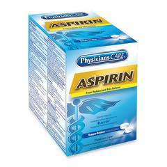 PhysiciansCare Physician's Care Aspirin Single Packets - For Headache, Toothache - 50 / Box