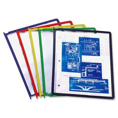 Durable InstaView Display Reference System Insert - 5 Panels - Letter Size - Polypropylene - 5 / Set - Assorted