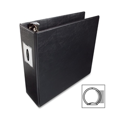 "Wilson Jones 364 Hvy-duty Rnd Ring Binders - 3"" Folder Capacity - Letter - 8 1/2"" x 11"" Sheet Size - 870 Sheet Capacity - 3"" Expansion - 3 x Flip Lock Fastener(s) - Internal Pocket(s) - Vinyl - Black"