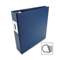"Wilson Jones DublLock D-Ring Binder - 3"" Binder Capacity - Letter - 8 1/2"" x 11"" Sheet Size - 600 Sheet Capacity - 3 x D-Ring Fastener(s) - 2 Internal Pocket(s) - Dark Blue - 1 Each"