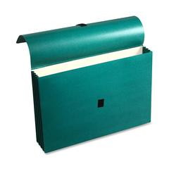 "Wilson Jones ColorLife Expanding Wallet - 10"" x 15"" Sheet Size - 3 1/2"" Expansion - Acrylic - Green - Recycled - 1 Each"