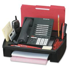 "Compucessory Telephone Stand & Organizer - 5"" Height x 11.5"" Width x 9.5"" Depth - Desktop - Black - Plastic - 1Each"