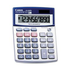 "Canon LS100TSG Mini-desktop Calculator - Auto Power Off - 10 Digits - LCD - Battery/Solar Powered - 4"" x 5.3"" x 1.2"" - 1 Each"