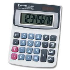 Canon LS82Z Handheld Calculator - Big Display, Large Plastic Keytop - 8 Digits - LCD - Battery/Solar Powered - 1 Each