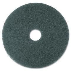 "3M Blue Cleaner Pad 5300 - 16"" Diameter - 5/Carton - Polyester Fiber, Nylon - Blue"
