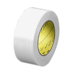 """Premium Grade Filament Tape - 2"""" Width x 60 yd Length - 3"""" Core - Synthetic Rubber - Glass Yarn Backing - 1 / Roll - Clear"""