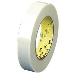 "Scotch Filament Tape - 0.75"" Width x 60 yd Length - 3"" Core - Synthetic Rubber - Glass Yarn Backing - 1 / Pack - Clear"