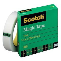 "Scotch Magic Tape - 0.50"" Width x 72 yd Length - 3"" Core - Writable Surface, Photo-safe, Non-yellowing - 1 / Pack - Matte Clear"