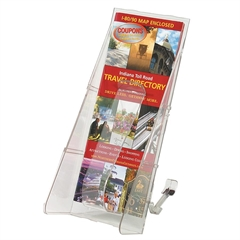 "Deflect-o Stand-Tall Countertop Unit - 1 Pocket(s) - 11.8"" Height x 4.6"" Width x 5.3"" Depth - Floor - Clear - 1Each"