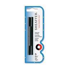 Sheaffer Skrip Fountain Pen Ink Cartridges - Jet Black Ink - 5 / Pack