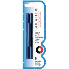 Sheaffer Skrip Ink Cartridge - Blue, Black Ink - 5 / Pack