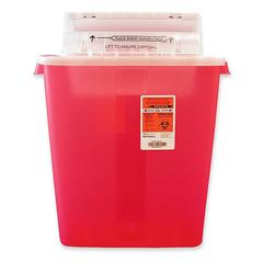 "Sharpstar Transparent Container - 3 gal Capacity - 16.5"" Height x 13.8"" Width x 6"" Depth - Red"