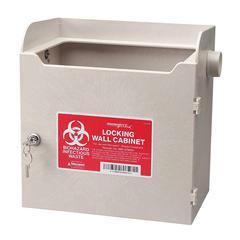 "Covidien Monoject Sharps Locking Cabinet - 11.5"" x 7"" x 12"" - Security Lock"