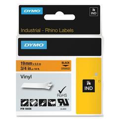 "RhinoPRO Industrial Vinyl Tape - 0.75"" Length - Black - Vinyl - 1 Each"