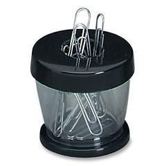 Gem Office Products Paper Clip Dispenser - Plastic - 1 Each - Black