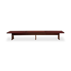 "Mayline Toscana Conference Table - Rectangle Top - 54"" Table Top Length x 26 ft Table Top Width - 29.5"" Height - Assembly Required - Sierra Cherry - Lacquer - Wood"