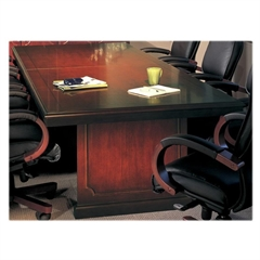 "Mayline Toscana Veneer Conference Table - Rectangle Top - 54"" Table Top Length x 14 ft Table Top Width - 29.5"" Height - Assembly Required - Mahogany - Veneer - Wood"