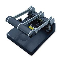 "CARL 150-Sheet Heavy Duty 3-hole Punch - 3 Punch Head(s) - 150 Sheet Capacity - 9/32"" Punch Size - Silver, Blue"