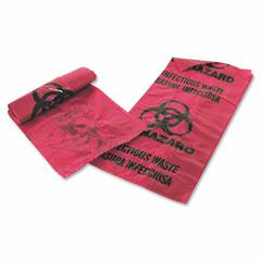 "Medegen Infectious Waste Disposal Bag - 1 gal - 11"" Width x 14"" Length x 1.25 mil (32 Micron) Thickness - Red - 200/Box - Office Waste"