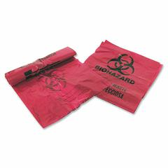 "Medegen Infectious Waste Disposal Bag - 3 gal - 14"" Width x 18.50"" Length x 1.25 mil (32 Micron) Thickness - Red - 200/Box - Office Waste"