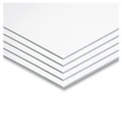 "Pacon Original Fome-Cor Foam Graphic Art Boards - 22"" x 28""187.5 mil - 5 / Carton - White - Polystyrene"