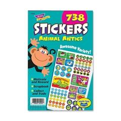 "Trend Animal Antics Sticker Pad - Self-adhesive - 9.50"" Height x 5.75"" Width - 738 / Pad"