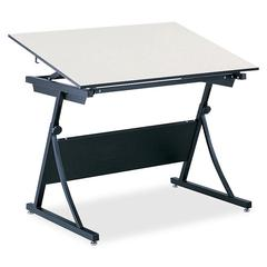 """PlanMaster Adjustable Drafting Table Top - Rectangle Top - 37.50"""" Table Top Length x 60"""" Table Top Width x 0.75"""" Table Top Thickness - Assembly Required - Melamine"""