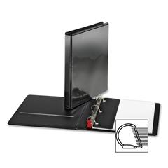 """Sparco Locking D Ring Binder - 1"""" Binder Capacity - Letter - 8 1/2"""" x 11"""" Sheet Size - D-Ring Fastener - 4 Inside Front & Back Pocket(s) - Polypropylene - Black - 1 Each"""