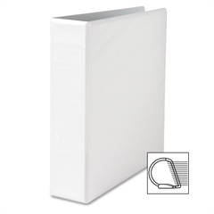 "Sparco Locking D-Ring View Binders - 2"" Binder Capacity - Letter - 8 1/2"" x 11"" Sheet Size - D-Ring Fastener - 4 Inside Front & Back Pocket(s) - Polypropylene - White - Recycled - 1 Each"