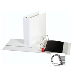 "Sparco Locking D-Ring View Binders - 3"" Binder Capacity - Letter - 8 1/2"" x 11"" Sheet Size - D-Ring Fastener - 4 Inside Front & Back Pocket(s) - Polypropylene - White - Recycled - 1 Each"