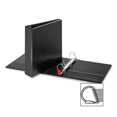 "Sparco Slant-D Locking Ring Binder - 2"" Binder Capacity - Letter - 8 1/2"" x 11"" Sheet Size - D-Ring Fastener - Inside Front & Back Pocket(s) - Polypropylene - Black - 1 Each"