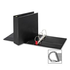"""Sparco Slant-D Locking Ring Binder - 3"""" Binder Capacity - Letter - 8 1/2"""" x 11"""" Sheet Size - D-Ring Fastener - Inside Front & Back Pocket(s) - Polypropylene - Black - 1 Each"""