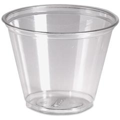 Dixie Crystal Clear Cup - 9 oz - 1000 / Carton - Clear - Plastic - Cold Drink