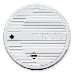 Kidde Battery Powered Fire Smoke Alarm - 85 dB - Flashing LED - Security Alarm - White